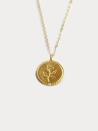 Wolf Circus/14Kネックレス Rose Coin Necklace in Gold