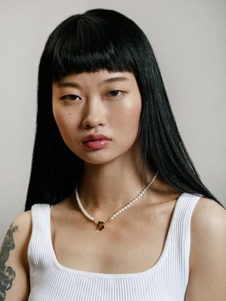 Wolf Circus ネックレス・ペンダント Wolf Circus/淡水パールネックレスSofia Pearl Necklace in Gold(2)