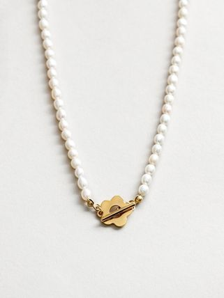 Wolf Circus ネックレス・ペンダント Wolf Circus/淡水パールネックレスSofia Pearl Necklace in Gold(4)