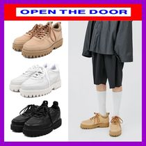 [OPEN THE DOOR]   cow hide platform shoes (3 color) /追跡付