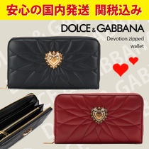 関税送料込国内発送★DOLCE & GABBANA Devotion zipped wallet