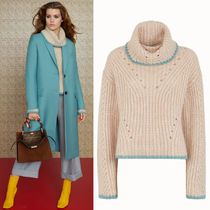 FE2603 LOOK24 CASHMERE BLEND RIBBED KNIT SWEATER