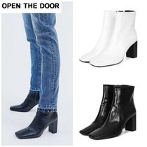 OPEN THE DOOR(オープンザドア) ミドルブーツ 無料EMS配送★OPEN THE DOOR★modern ankle boots (2 color)