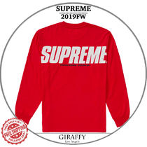 【19FW/AW】SUPREME Trademarks L/S Top  レッド