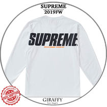 【19FW/AW】SUPREME Trademarks L/S Top  ホワイト