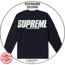 【19FW/AW】SUPREME Trademarks L/S Top  ブラック