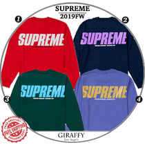 【19FW/AW】SUPREME Trademarks L/S Top  選べるカラー