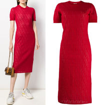 FE2611 FF LOGO COTTON KNIT DRESS