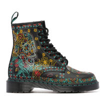 Dr.Martens 1460 8ホールブーツ SKULL AND FLOWERS BOOTS