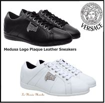 【Versace Collection】Medusa Logo Plaque Leather Sneakers