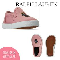 Polo Ralph Lauren☆幼児Bal Harbour II Bear Slip-Onスニーカー
