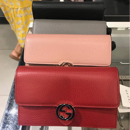 newest 77855 6a3a3 GUCCI 円高還元! チェーンウォレット ショルダーバッグ 4色