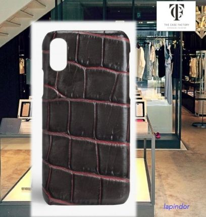 THE CASE FACTORY スマホケース・テックアクセサリー THE CASE FACTORY★ IPHONE XR CROCODILE TAUPE/PINK