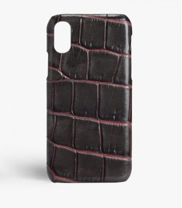 THE CASE FACTORY スマホケース・テックアクセサリー THE CASE FACTORY★ IPHONE XR CROCODILE TAUPE/PINK(2)