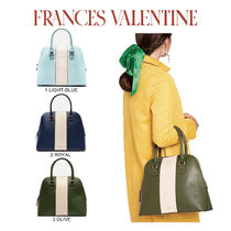【Frances Valentine】Rachel Satchel Racing Stripe Light Blue