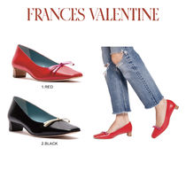 [Frances Valentine]Mary Mini Block Heel Spazzalato Red Pink