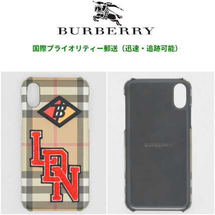 Burberry スマホケース・テックアクセサリー BURBERRY  Logo Graphic Vintage Check iPhone X/XS Case