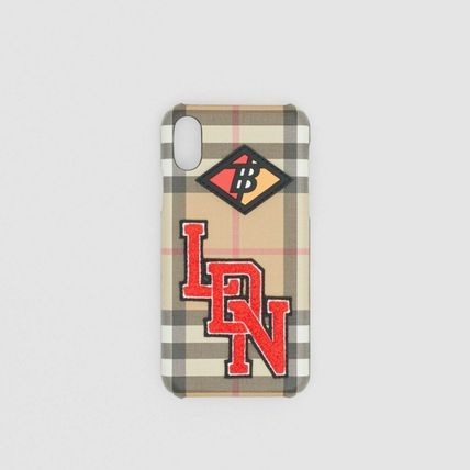 Burberry スマホケース・テックアクセサリー BURBERRY  Logo Graphic Vintage Check iPhone X/XS Case(2)