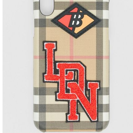 Burberry スマホケース・テックアクセサリー BURBERRY  Logo Graphic Vintage Check iPhone X/XS Case(4)