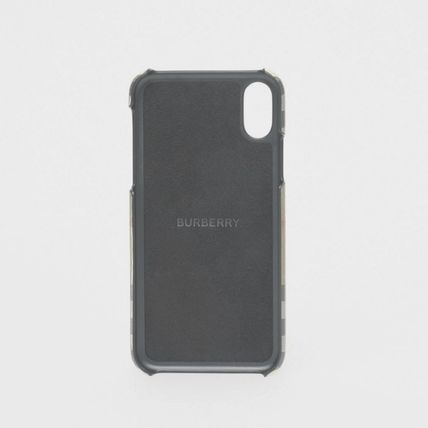 Burberry スマホケース・テックアクセサリー BURBERRY  Logo Graphic Vintage Check iPhone X/XS Case(5)