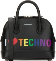 Balenciaga□セール★逸品 BLACK レザー VILLE TOP XXS HANDBAG
