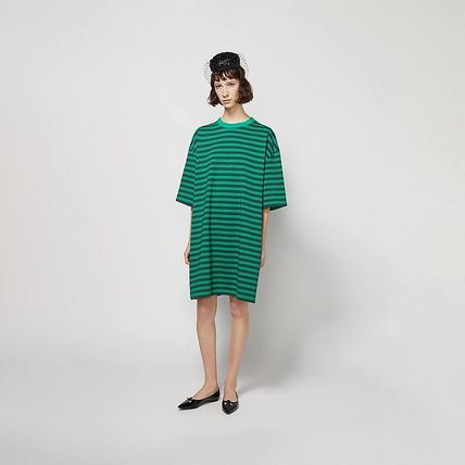 MARC JACOBS ワンピース 【MARC JACOBS】人気 THE STRIPED T-SHIRT DRESS★(5)