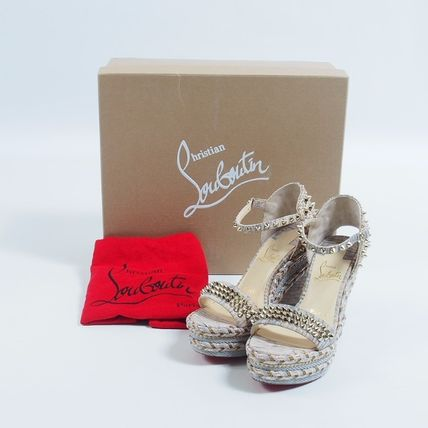 outlet store dcdae 274ea Christian Louboutin::Madmonica 120 ウェッジ : 35[RESALE]