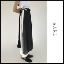 ☆AAKE☆  スカート  SLIT LAYERED SK (black!)