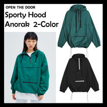[OPEN THE DOOR] Sporty Hood Anorak ★日本未入荷★ 2色