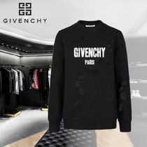 【GIVENCHY】GIVENCHY PARIS DESTROYED SWEATSHIRT
