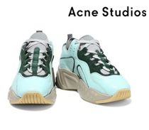Acne Studios☆Manhattan leather, suede and mesh sneakers