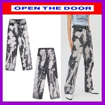 [OPEN THE DOOR]      cow denim pants (black)  / 追跡付