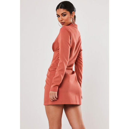 Missguided ワンピース ★MISSGUIDED-コルセット風ブレザーワンピース-RUST★(5)