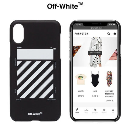 Off-White スマホケース・テックアクセサリー ★安心の国内発送★人気商品★OFF-WHITE iPhone X ケース