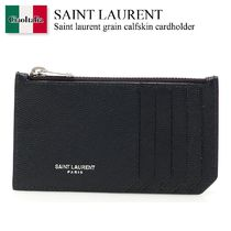 SAINT LAURENT Grain Calfskin Cardholder