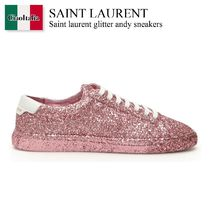SAINT LAURENT Glitter Andy Sneakers