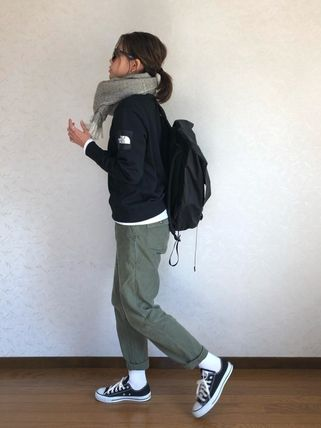 THE NORTH FACE スウェット・トレーナー 【THE NORTH FACE】Square Logo Crew 裏起毛(10)