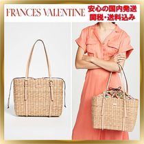 関税送料込◆Frances Valentine◆Woven straw Large Tote Bag