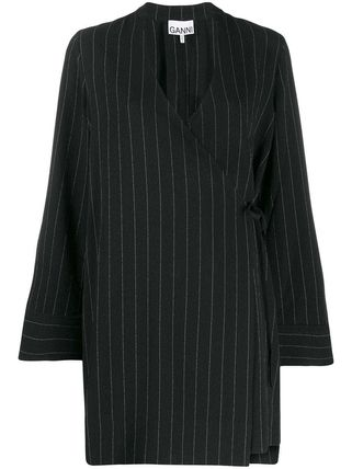 Ganni ワンピース 【Ganni】pinstriped wrap dress(2)