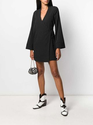 Ganni ワンピース 【Ganni】pinstriped wrap dress(3)