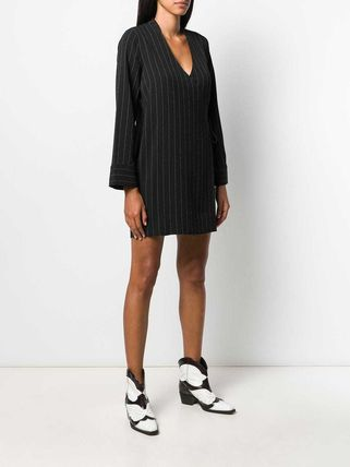 Ganni ワンピース 【Ganni】pinstriped wrap dress(4)