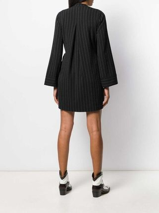 Ganni ワンピース 【Ganni】pinstriped wrap dress(5)
