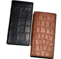 クロコ調 COACH Crocodile-embossed BREAST POCKET WALLET
