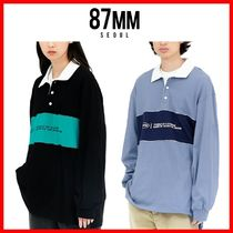 ☆人気☆【87MM】☆SLOGAN RUGBY SHIRTS☆2色☆