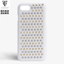 THE CASE FACTORY*iPhone 7/8 ミックス スタッズ リザード革