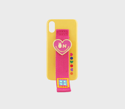 SECOND UNIQUE NAME スマホケース・テックアクセサリー [SECOND UNIQUE NAME] SUN x NONENON CASE YELLOW DEEP PINK