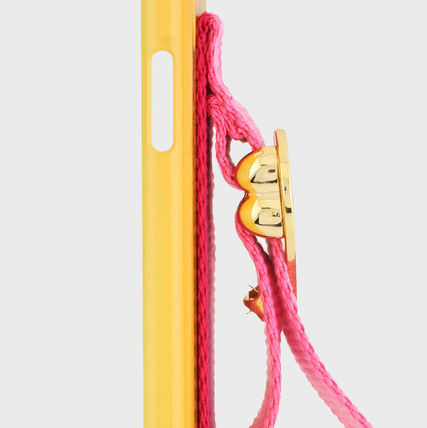 SECOND UNIQUE NAME スマホケース・テックアクセサリー [SECOND UNIQUE NAME] SUN x NONENON CASE YELLOW DEEP PINK(3)