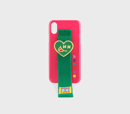 SECOND UNIQUE NAME スマホケース・テックアクセサリー [SECOND UNIQUE NAME] SUN x NONENON CASE PINK GREEN