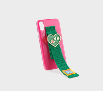 SECOND UNIQUE NAME スマホケース・テックアクセサリー [SECOND UNIQUE NAME] SUN x NONENON CASE PINK GREEN(2)
