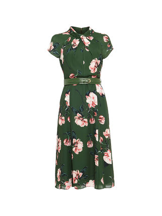 Phase Eight ワンピース 【関税込】Phase Eight ワンピース☆Helena Floral Belted Dress(4)